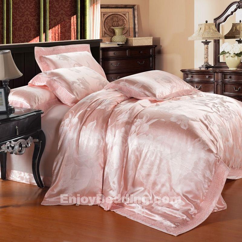 Victorian Secret Pink 100% Cotton Satin floral girls bedroom Bedding Sets - EnjoyBedding.com