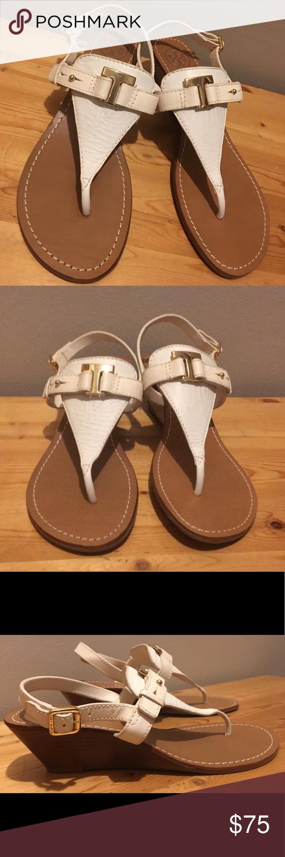 2c6a8d93187b TORY BURCH Casey T Wedge Sandals Size 8