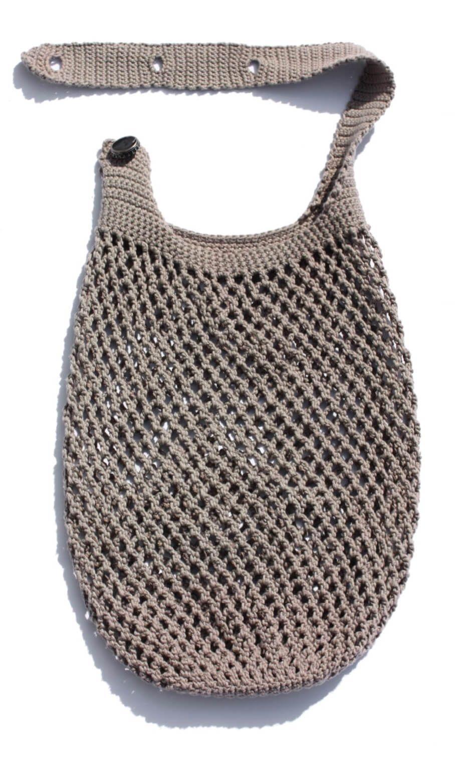 Einkaufsnetz mit verstellbarem Henkel #purses
