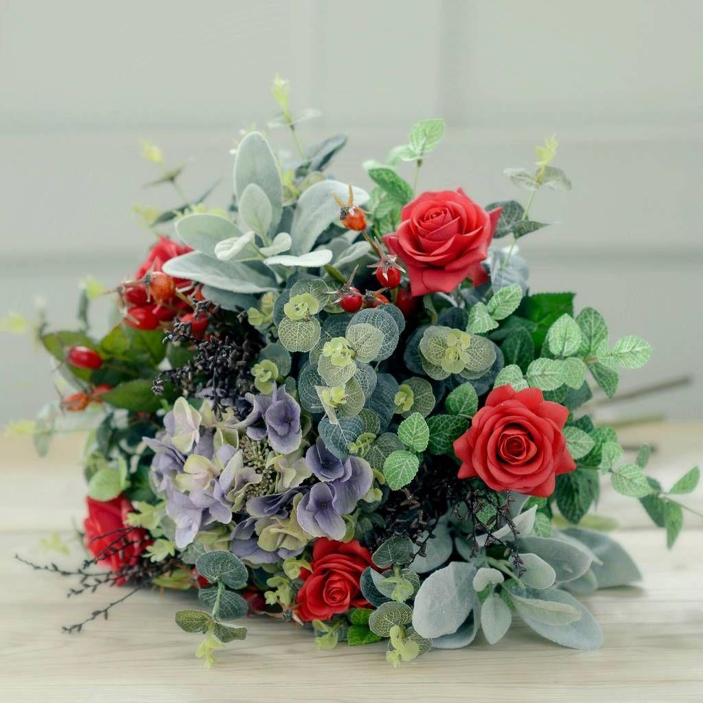 Silk garden red rose and hydrangea luxury bouquet hydrangea silk garden red rose and hydrangea luxury bouquet izmirmasajfo