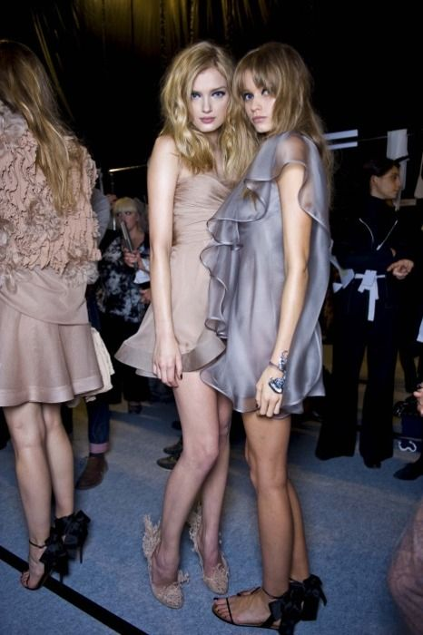 Backstage: Lily Donaldson and Abbey Lee