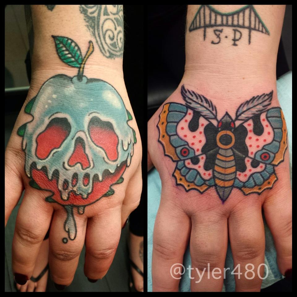 Tyler Nealeigh Black Lotus Tattoo Hand Tattoos Tattoos