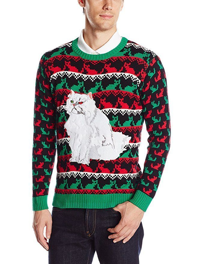 Ugly Christmas Sweater, Nice Kitty, Cat, Christmas Sweater, New ...