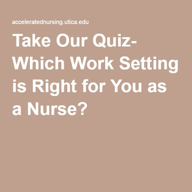 take our quiz  which work setting is right for you as a