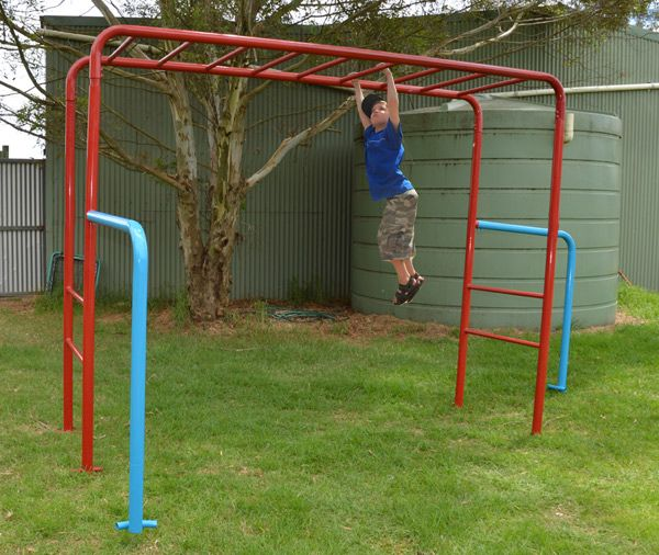 Kids Love The Tumble Monkey Bars Set Because It Is A Fun Piece Of Backyard Playground Equipment