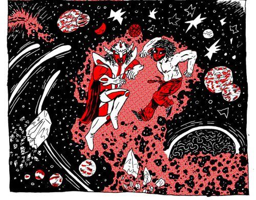 yeahdudecomics:  Jushin Thunder Liger vs. The Great Muta   Yeh...