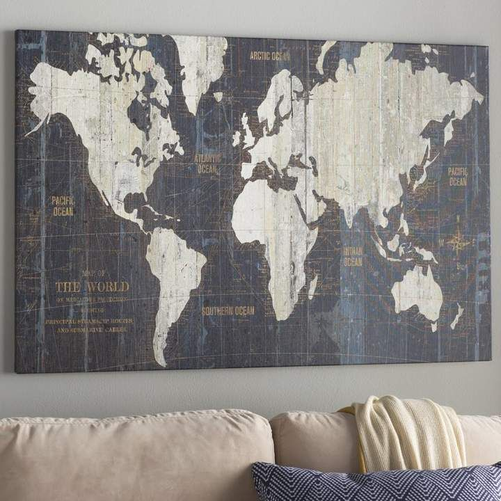 Williston Forge 'Old World Map' Graphic Art Print on Wrapped Canvas #worldmapmural