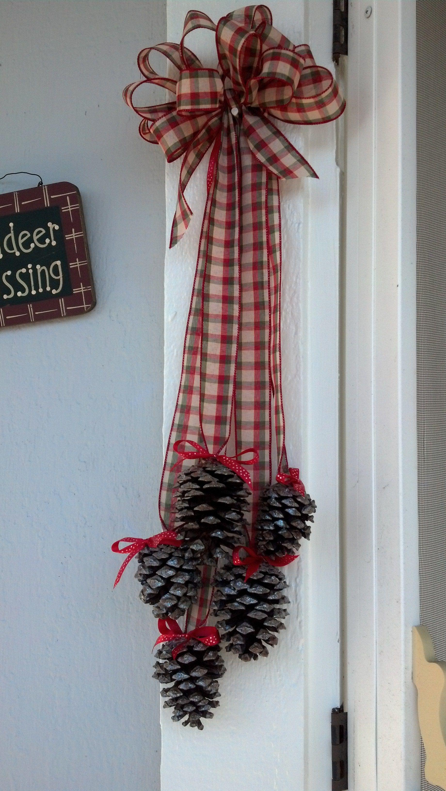 Photo of Pigna di Natale che appende #pinecone Crafts