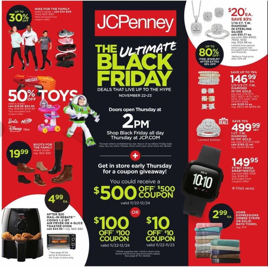 Babybear S Freebies Sweeps And More Jcpenney S Black Friday 2018 Ad Jcpenney Black Friday Black Friday Ads Black Friday Campaign