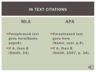 this tutorial will teach students key differences between mla and