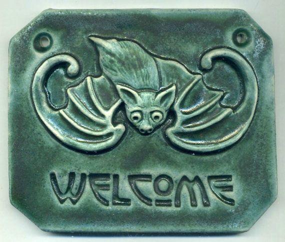 Welcome Bat Art Nouveau