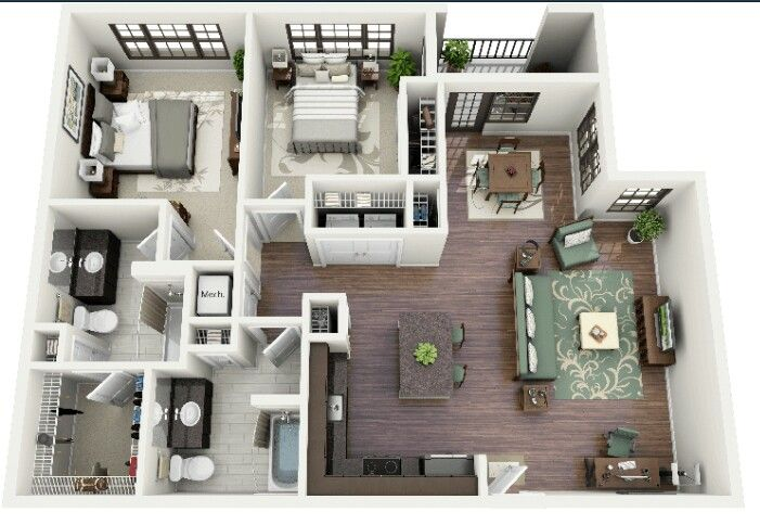 Cute Apartment Small House Plans House Plans Apartment Floor Plans