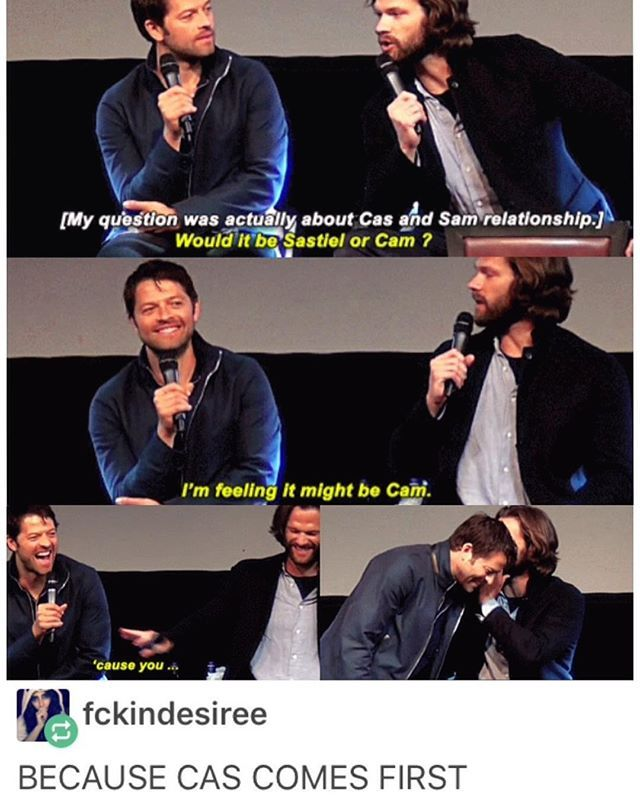 "I swear this ""influence"" moment from JIB7 is one of my all time favorite SPNCon moments. Jared and Misha together are absolute gold!"