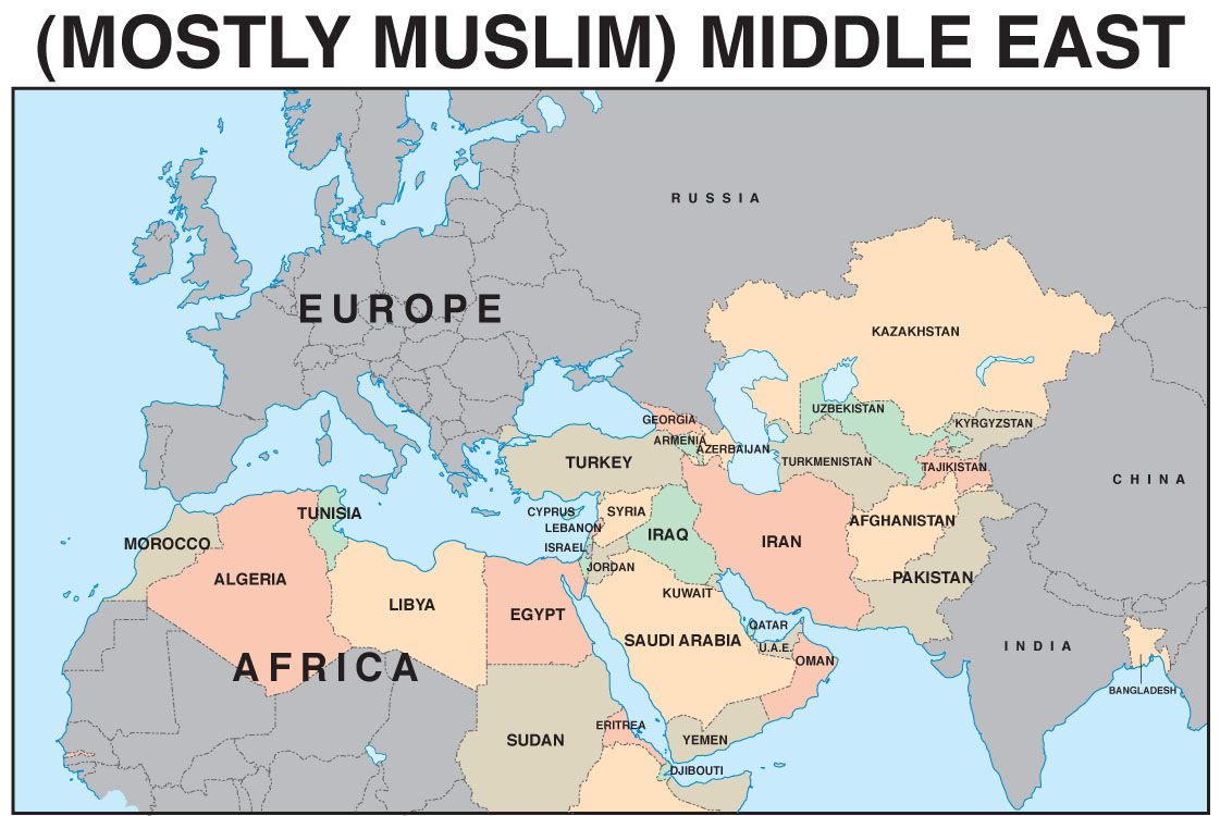 Student Map Of Middle East