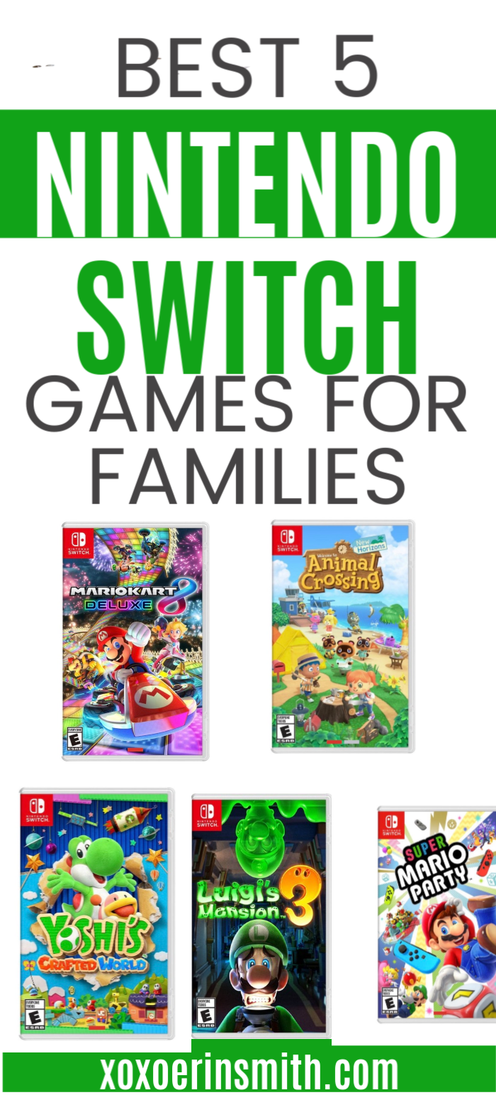 Best 5 Nintendo Switch best seller games and have been a