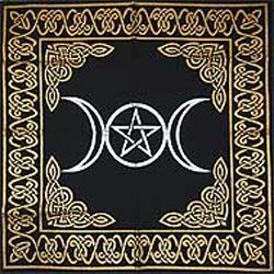 Triple Goddess Altar Cloth 24x24 - Click Image to Close
