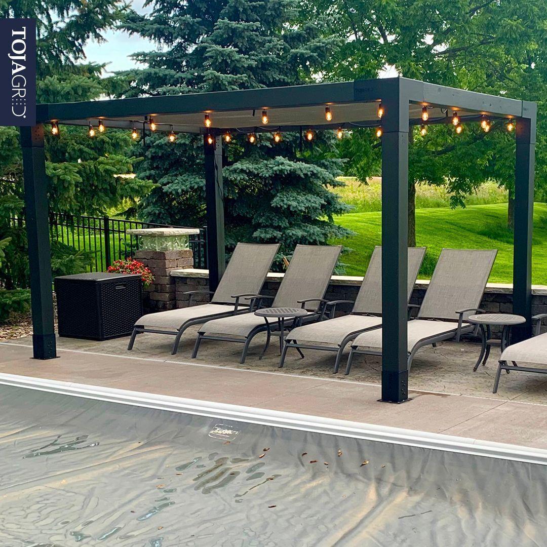 Pergola Kit With Shade Sail For 6x6 Wood Posts Shade Sail Diy Pergola Backyard Patio Designs