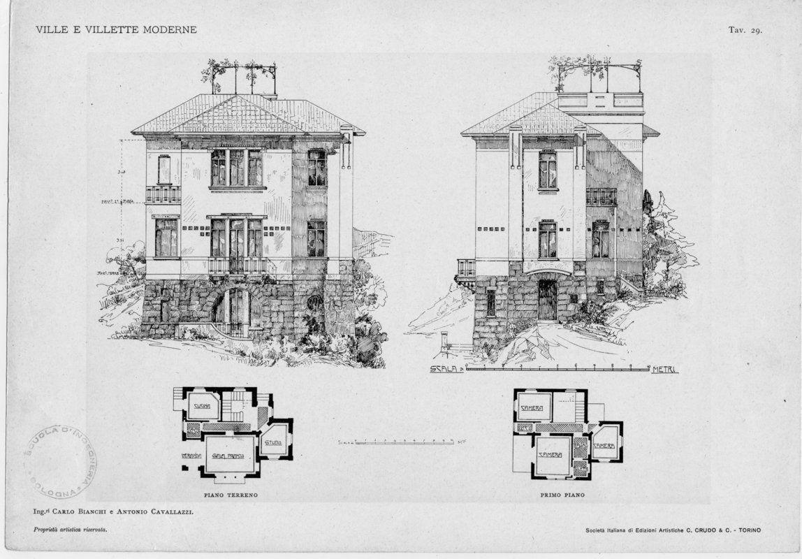 Ville e villette moderne progetti e schizzi di fa for Architettura ville moderne
