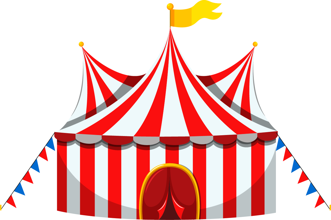 Circus Tent And Ticket Booth 1280x849 Circus Tent Illustration Tent Drawing Circus Tent