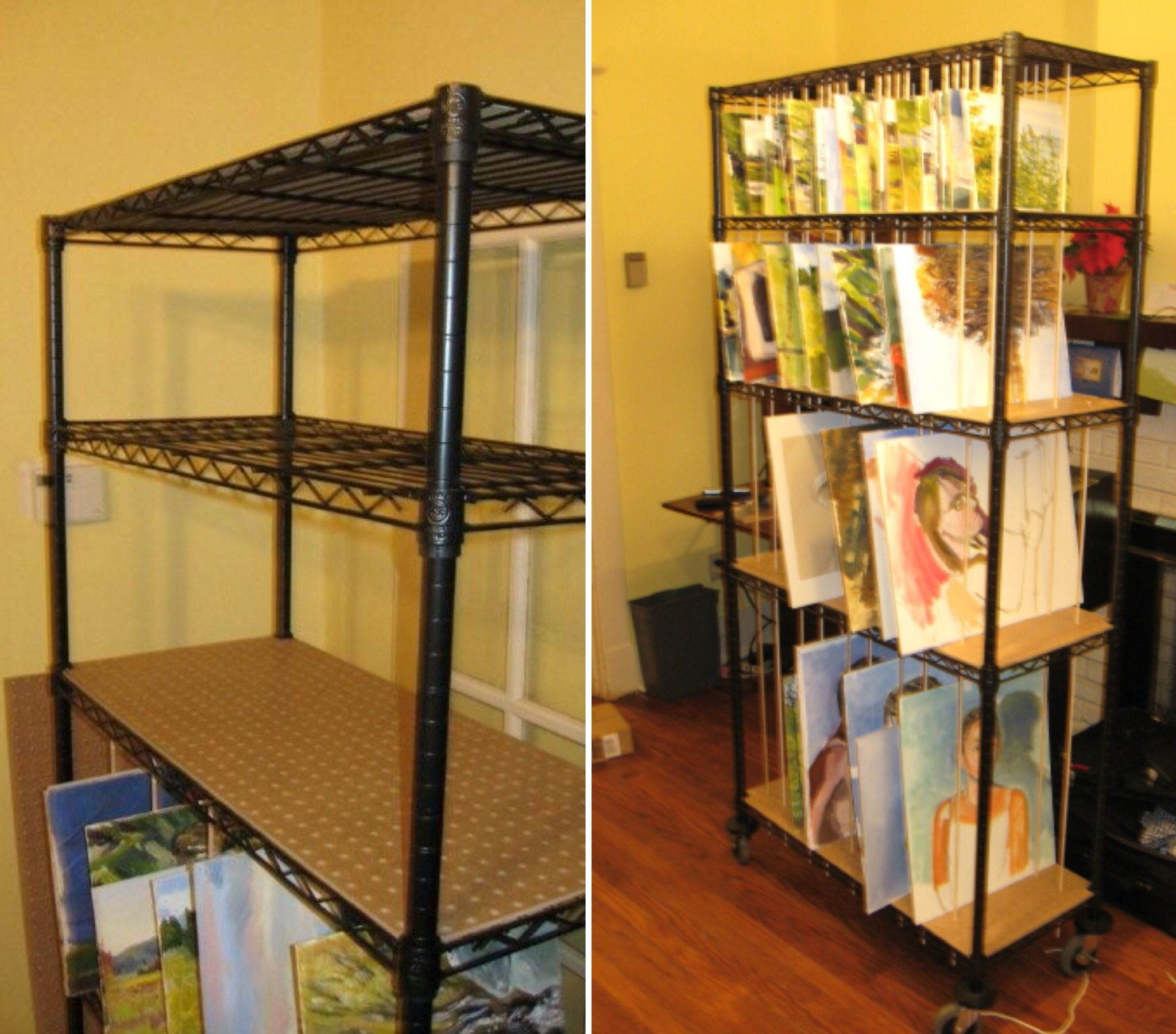 Art storage rack for painters- easy to build...!\' (via WetCanvas ...