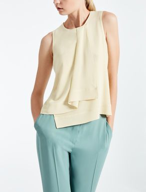 Silk crêpe de chine top