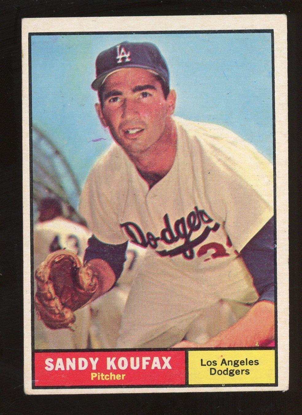 1961 Topps 344 Sandy Koufax Los Angeles Dodgers HOF