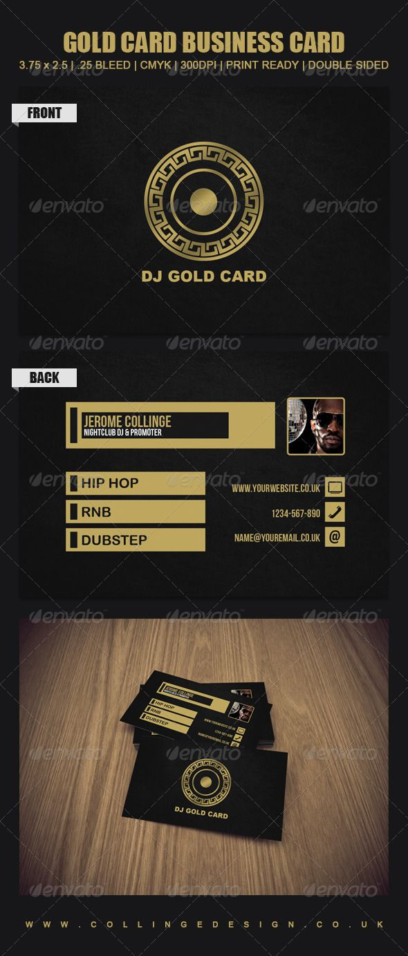 Print Templates Gold Card Graphicriver Business Card Template Print Templates Business Card Design