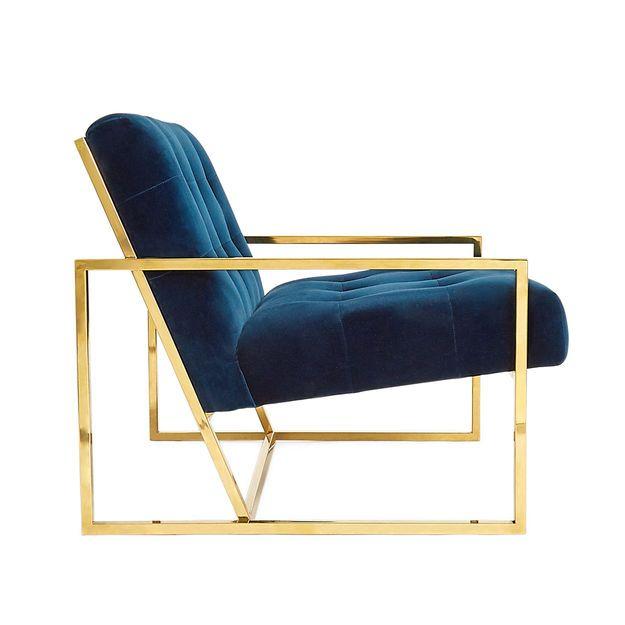 Best Goldfinger Lounge Chair Navy Velvet Chair Upholstered 400 x 300