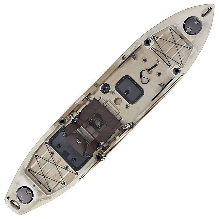Ascend 174 Fs128t Sit On Top Angler Kayak Desert Storm