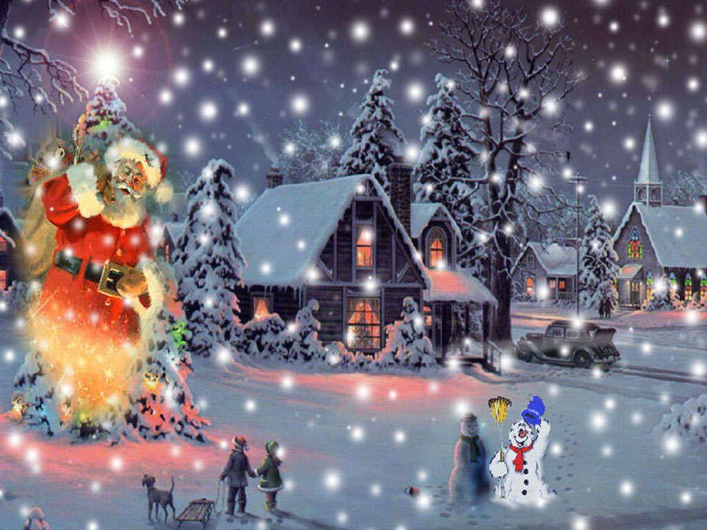 Animated Christmas Desktop Backgrounds For Windows 7 Rozhdestvenskie Oboi Rozhdestvenskie Pejzazhi Rozhdestvo V Stile Retro