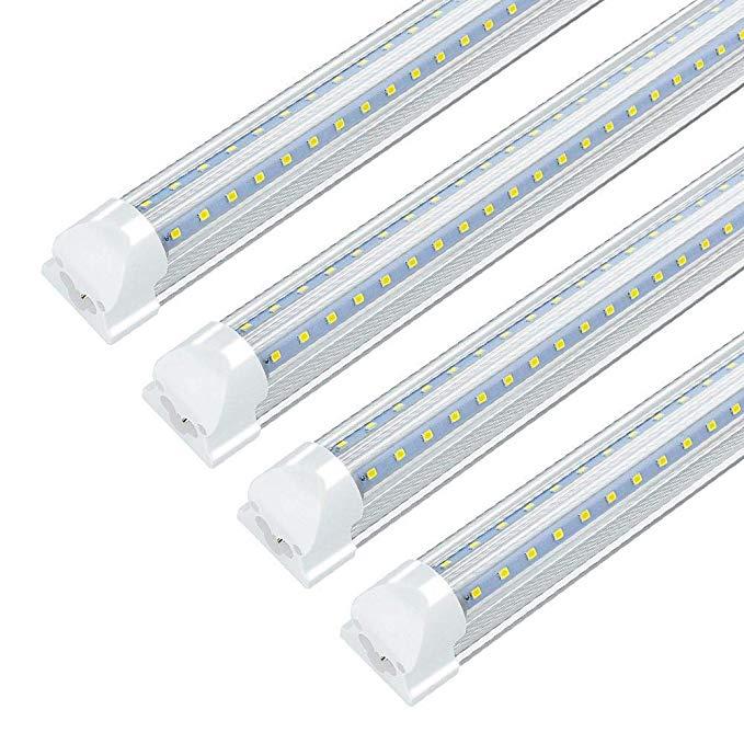 24 Pack 8ft Led Shop Light Fixture 72w 7200 Lumens 6000k Cool