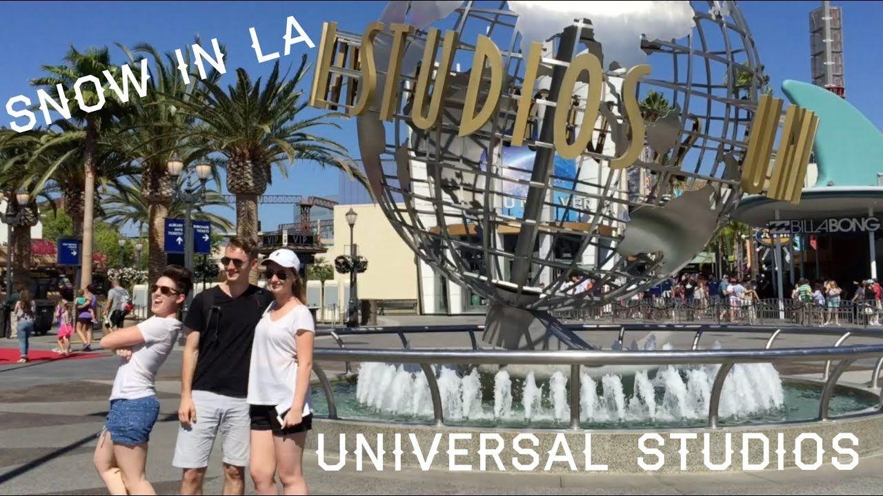 Snow In La Went To Universal Studios City Walk Losangeles Universalstudioshollywood Hollywood Da Snow In La Universal Studios Hollywood Universal Studios