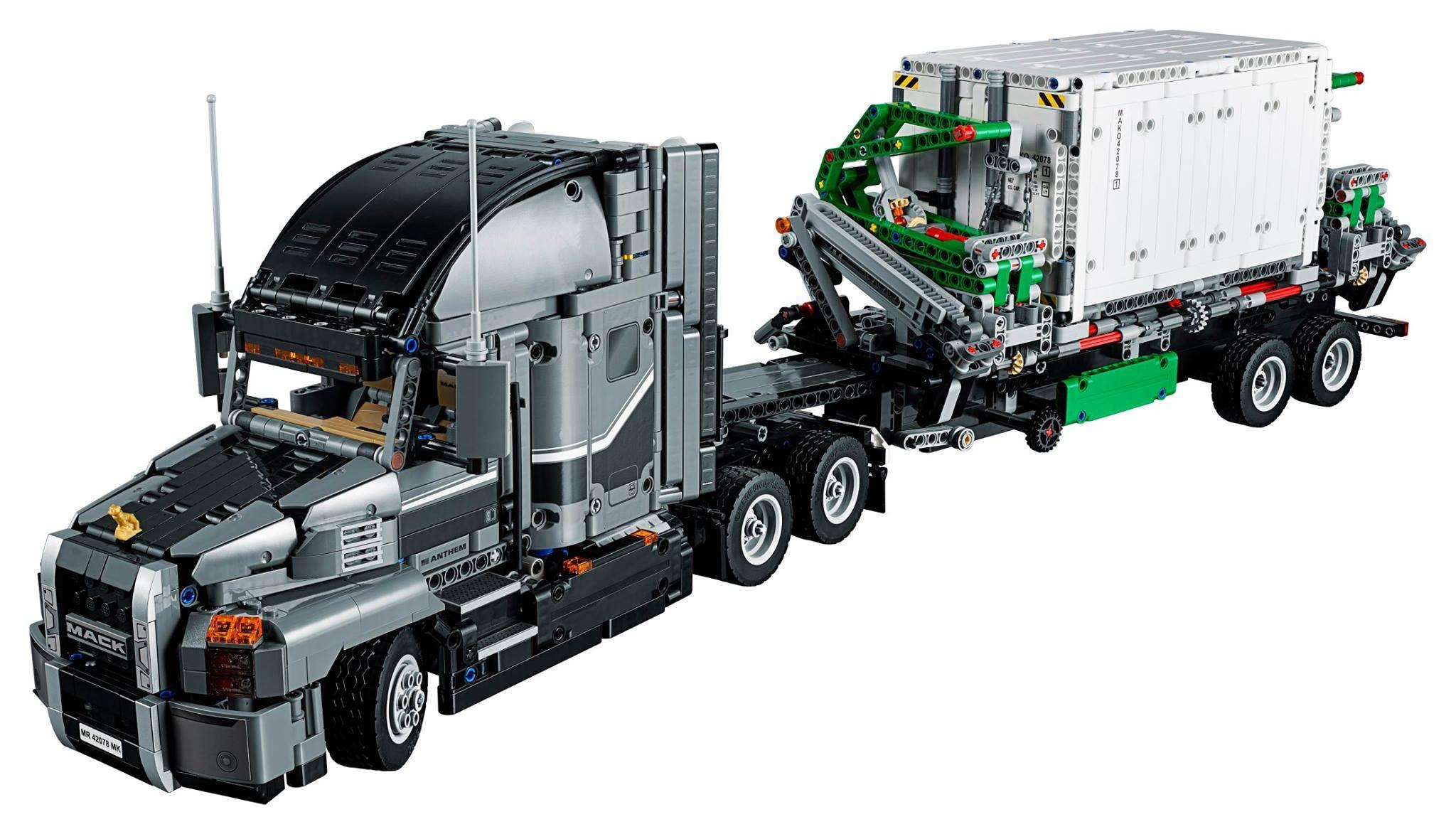 mit dem set lego technic mack truck 42078 geht es in 2018. Black Bedroom Furniture Sets. Home Design Ideas