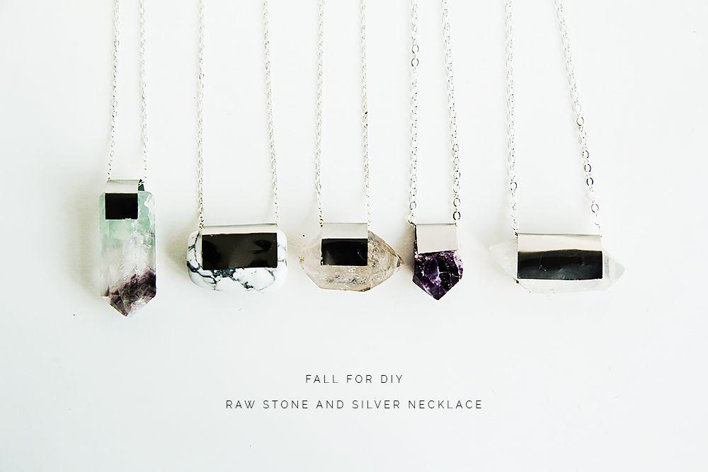 Photo of DIY Raw Semi Precious Stone & Silver Pendant Necklace | Fall For DIY