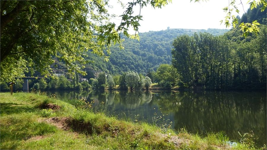 Les bords du Lot  au Grand Fabre en Aveyron.