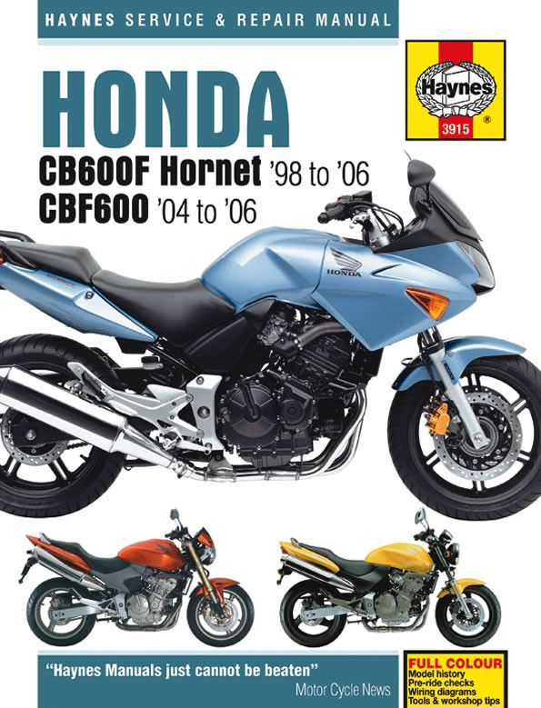 Haynes m3915 service repair manual for 1998 06 honda cb600f haynes m3915 repair manual for 1998 06 honda cb600f cb600fs fandeluxe Image collections