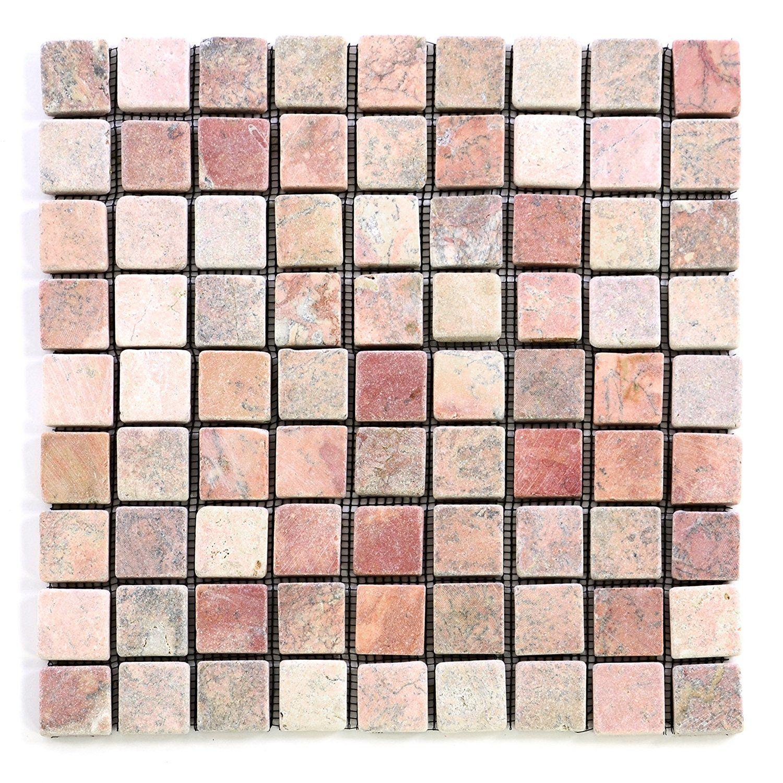 DIVERO 11 Matten 30 x 30cm je 9 x 9 Steine Marmor Naturstein-Mosaik ...