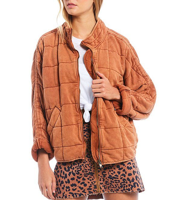 Dolman Quilted Knit Cotton Jacket