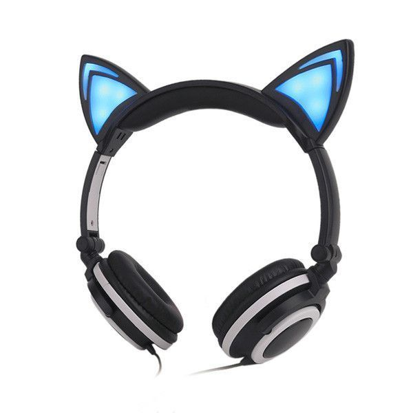 Glowing Cat Ear Headphones (Various Colors)
