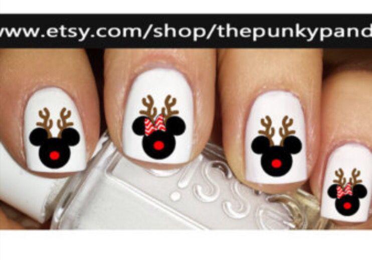 Disney Christmas Nails Nail Art Disney Disney Christmas Nails Xmas Nails