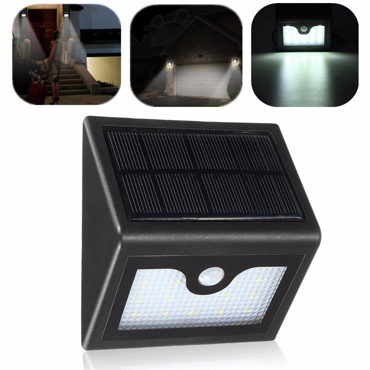 16 Led Solar Power Pir Motion Sensor Wall Light Outdoor Waterproof Garden Lamp Outdoor Lighting From Lights Lighting On Banggood Com Outdoor Wall Lighting Outdoor Lighting Motion Sensor Lights