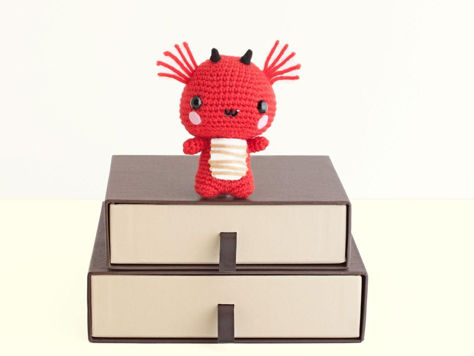 Amigurumi Dragon (enlace a patrón, link to pattern) | Muñecas ...