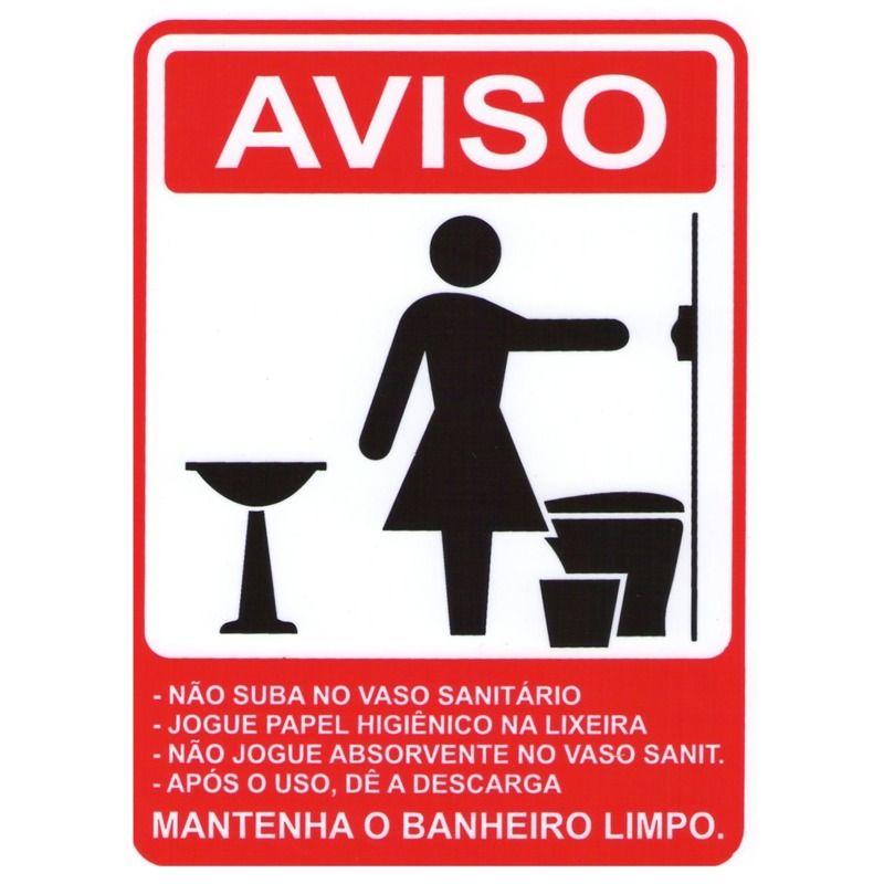 Placa Aviso Banheiro Feminino Acesso Placas E Sinalizaa Aµes
