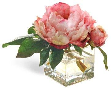 Collectible Miniature Pink Peony - contemporary - plants - san francisco - Winward Designs