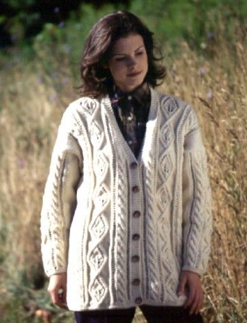 Yarnspirations.com - Patons Leaf Panel Cardigan - Patterns ...