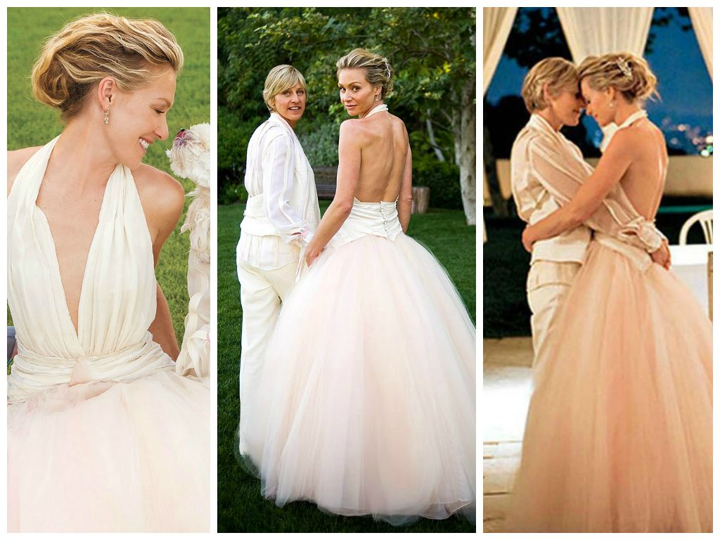 Portia de rossi iconic wedding dresses luxury bridal for Portia de rossi wedding dress