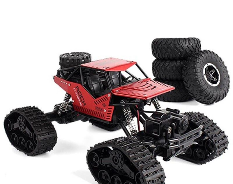 Electric Rc Car Rock Crawler Remote Control Toys Change Track Tire Radio Controlled Cars Gifts Toys Rock Crawler Rc Rock Crawler Track Radio Controlled Cars