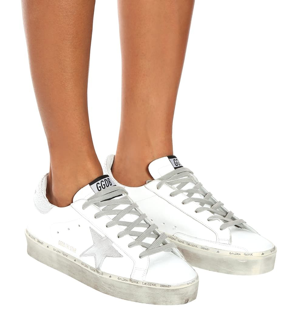 Hi Star Leather Sneakers - Golden Goose