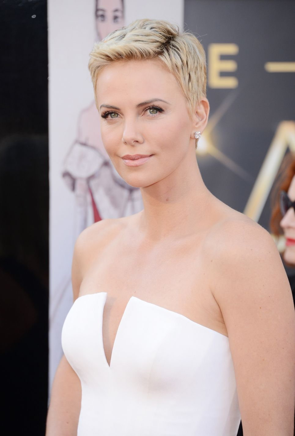 Charlize Theron arrives at the 85th Annual Academy Awards at Dolby Theatre in Los Angeles ,February 2013. #Oscars2013
