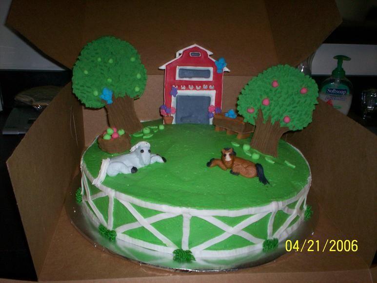 Birthday Cakes Dubai ~ Inspiration for a farm cake and cupcakes novelty cakes dubai